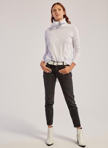 Monamoda Sweatshirt Beyaz